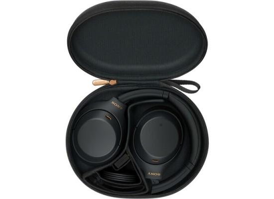سماعة رأس لاسلكية بخاصية إلغاء الضوضاء من سوني (WH-1000XM4/BME) - أسود
