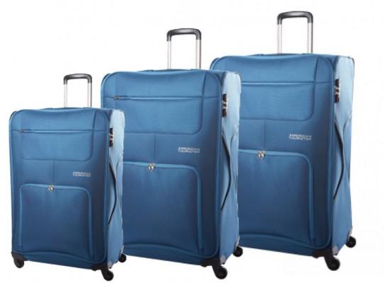 0e3db2659 ٣ حقائب سفر من أمريكان توريستر (50+68+78 بوصة) - أزرق 20T01007 ...