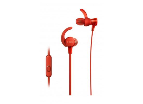 Sony In-Ear Extra Bass Waterproof Sports Headphones with Mic (MDR-XB510AS) - Red