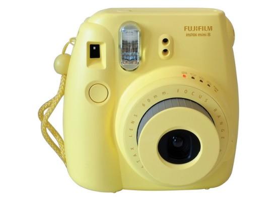 كاميرا فوجي فيلم إنستاكس ميني ٨ + حقيبة + ألبوم صور - أصفر