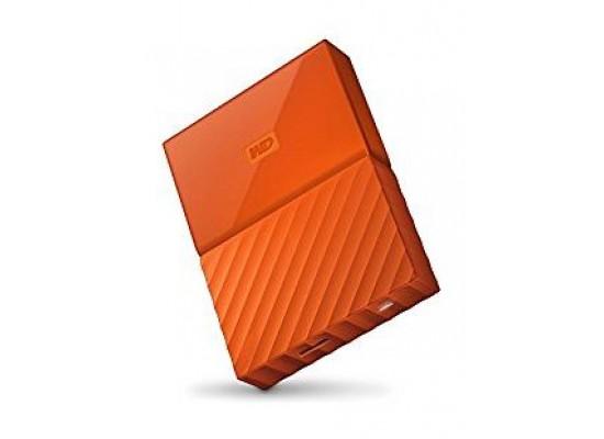 القرص الصلب الخارجي ماي باسبورت سعة ١ تيرا بايت ومنفذ يو إس بي ٣,٠ من ويسترن ديجيتال - برتقالي