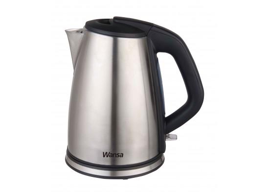 غلاية الماء من الستانليس ستيل من ونسا – قوة ٢٢٠٠ واط – سعة ١.٧ لتر – أسود / فضي (KES-1802)