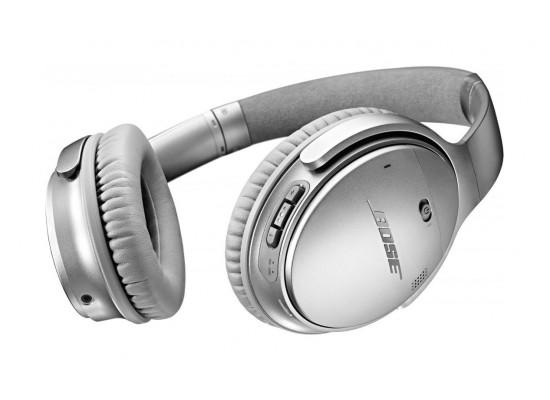 سماعة الرأس اللاسلكية كوايت كومفورت ٣٥ بتقنية إلغاء الضوضاء من بوس – فضي