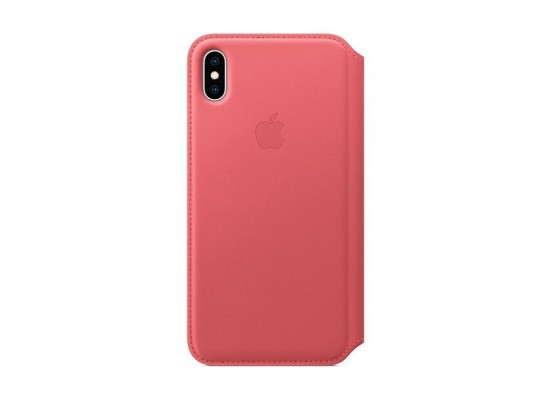 Apple iPhone XS MAX Leather Folio - Pink