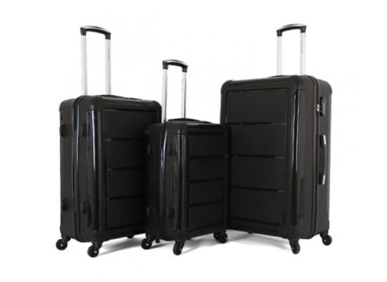 حقائب السفر من جوردانو، ٣ قطع - أسود