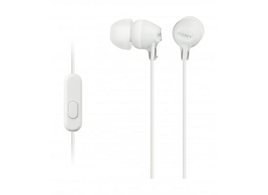 Sony Earphone With Mic (MDREX15AP) - White