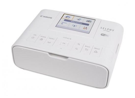 كاميرا كانون إي أو إس إم١٠٠ الرقمية قابلة لتبديل العدسة مع عدسة ١٥ - ٤٥ ملم + طابعة الصور سيلفي من كانون CP1300 - أبيض
