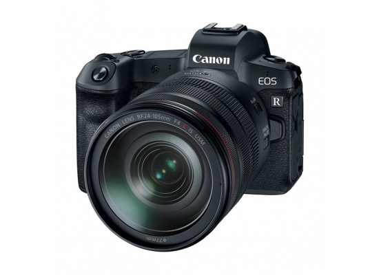 كاميرا كانون EOS R الرقمية بدون مرآة مع عدسة ٢٤-١٩٥ مم + موصل عدسة EU26