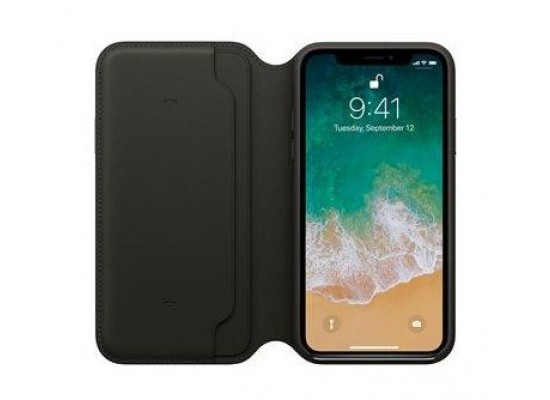 Apple Leather Case For iPhone 10  (MQRY2ZM/A) - Black