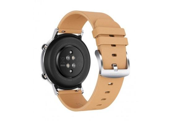ساعة هواوي GT 2 كلاسيك الذكية 42 ملم - بيج