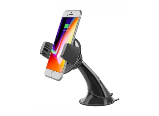 Promate AuraMount-2 Ultra-Fast Qi Wireless Charging Car Mount - Black