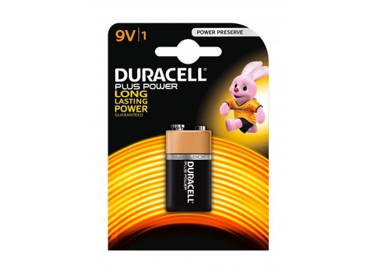 Duracell 9V Plus Power Battery - 1 Pack