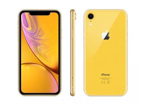 موبايل أبل أيفون إكس آر ١٢٨ جيجابايت - شريحة مدمجة - أصفر