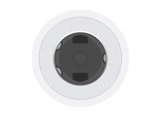 محوّل لايتنينغ إلى منفذ السماعة ٣,٥ ملم من آبل – أبيض (MMX62ZM/A)