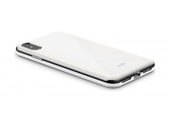 Moshi iGlaze iPhone XS Max Slim Hardshell Case - White Pearl
