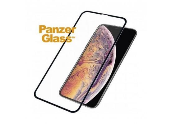 واقي الشاشة الزجاجي من بانزر لهاتف أيفون إكس إس ماكس (2643) - أسود