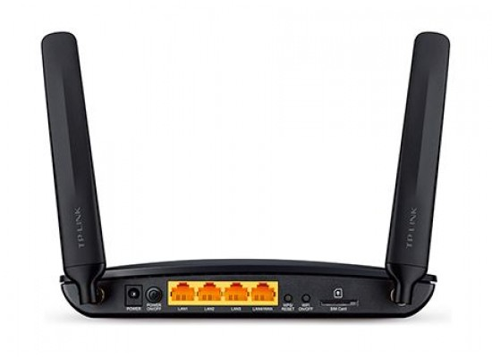 TP-LINK TL-MR6400 300 Mbps 4G LTE Wireless Router  Back View