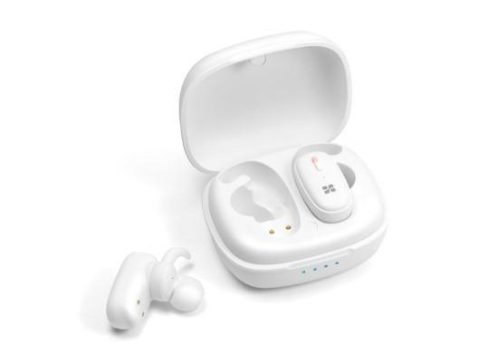 سماعة إيربودز بروميت ترو بلو ٣ اللاسلكية مع باس عميق وصوت ستيريو داخل الأذن - أبيض