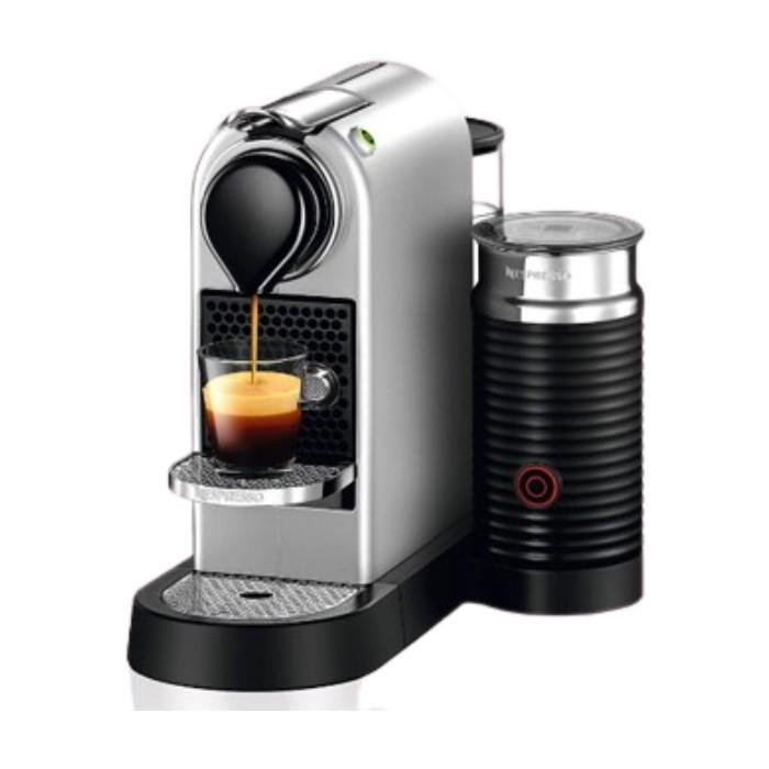 ماكينة القهوة سيتيز اند ميلك بقوة 1710 واط من نيسبرسو (C123SI) – فضي