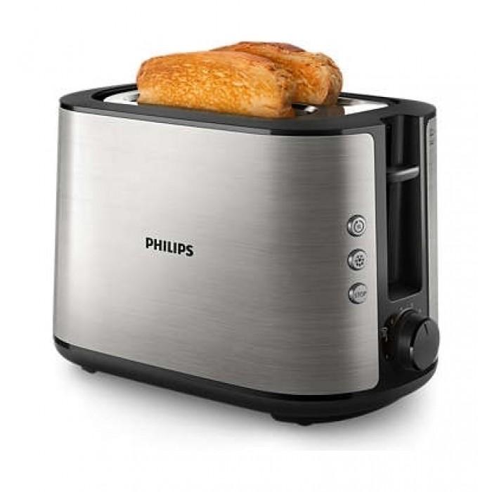 محمصة الخبز فيليبس من مجموعة فيفا معدني بالكامل – (HD2650/92)