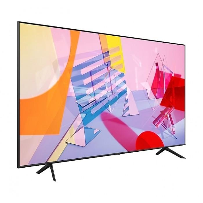 Samsung 75 Inch TV Smart QLED Flat 4K Quantum Processor AI Upscale Motion Rate 100+ PQI 3100 Quantum HDR Mega Contrast - QA75Q60TAUXUM
