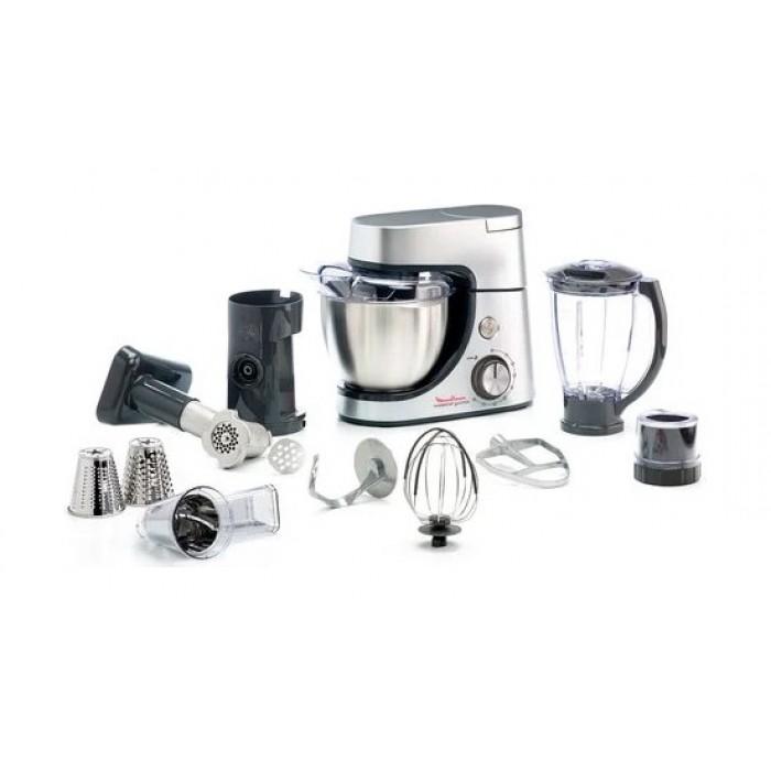 ماكينة المطبخ مولينكس ماستر شيف بسعة 4.6 لتر (QA513D27) – فضي