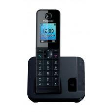 هاتف أرضي لاسلكي من باناسونيك – أسود – سلسة (KX-TG) - (KX-TGH210UEB)