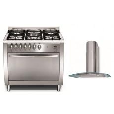 طباخ لوفرا ٩٠×٦٠ سم + شفاط الروائح لطباخ الغاز ٩٠ سم من لوفرا