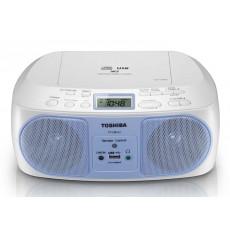 مشغل اسطوانات محمول مع راديو بقوة ١٣ واط من توشيبا - أزرق - TY-CRU12