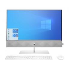 """HP Pavilion 27-D0002NE Intel Core i7 10th Gen. 16GB RAM 2TB HDD + 512 SSD 27"""" All-In-One Desktop - White"""