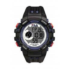 Fila 52mm Gent's Digital Rubber Sports Watch (38188003) - Black
