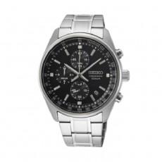 ساعة سيكو العصرية للرجال بحزام معدني و شاشة عرض تناظرية – 41.5 ملم - (SB379P1) -  فضي