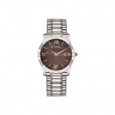 ساعة جوفيال العصرية النسائية بعرض تناظري 40 ملم – سوار معدني - (5022-GAMQ-10) -فضي