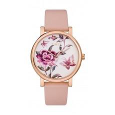 Timex 38mm Casual Ladies Analog Leather Watch (TW2U19300) - Pink