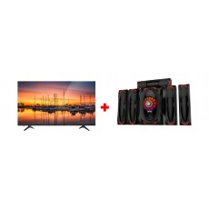 Wansa 5.1Ch 130W FM USB Mini Multimedia System (TK-903) + Wansa 65-inch 4K UHD Smart LED TV - (WUD65I8850S)