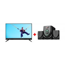 Philips 40-inch Full HD LED TV - (40PFT5583) + Wansa 2.1Ch 40W FM USB Mini Multimedia System (TK-521)