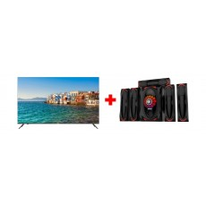 Haier 55-inch 4K Smart LED TV (LE55K6600UG) + Wansa 5.1Ch 130W FM USB Mini Multimedia System (TK-903)