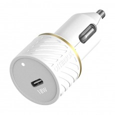 OtterBox Car Charger Bundle USB C 18W USB PD + USB C-Lightning Cable 1M