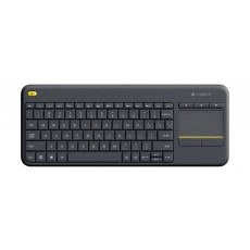 لوحة مفاتيح لاسلكية تعمل باللمس (تقنية الكل في واحد) من لوجيتيك ـ أسود ـ K400 Plus