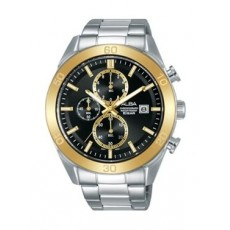 Alba Quartz 44mm Chronograph Gent's Metal Watch - AM3620X1