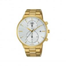 ساعة ألبا كرونوغراف رجالية كاجوال 43 مم (AW4002X1) - ذهبي