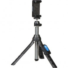 حامل الهواتف الذكية للصور السيلفي بور ميني تري مع وحدة تحكم عن بعد - أزرق