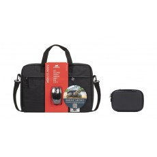 Riva Laptop Bag for up to 15.6-inch + Riva 2.5-inch HDD Case + Riva Wireless Mouse