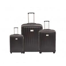 مجموعة 3 حقائب صلبة للسفر يو إس بولو كاليبسو - أسود