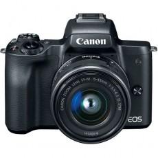 كاميرا كانون إي أو إس إم ٥٠ الرقمية بدقة ٢٤ ميجابكسل، قابلة لتبديل العدسة مع عدسة ١٥ - ٤٥ ملم مع محرك ستيبر لاستقرار الصورة