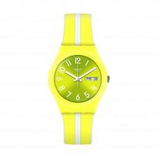 ساعة سواتش ليمون سيلو كوارتز للجنسين بعرض تناظري و حزام مطاطي - ٣٤ ملم - (GJ702)