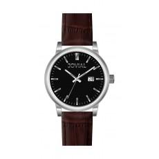 ساعة جوفيال للرجال بعرض تناظري – حزام جلد – أزرق (GS2008-51)