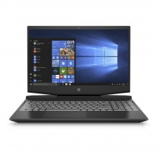 """HP Pavilion 15 Shadow Black Gaming Laptop 15.6"""" Full HD  screen backlit front view"""