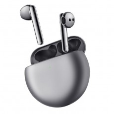 Huawei Freebuds 4 True Wireless Earphones Silver Frost outside charging case