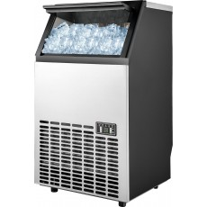 صانعة الثلج بسعة ٤٥ لتر من ونسا (HZB-45) - أسود/فضي